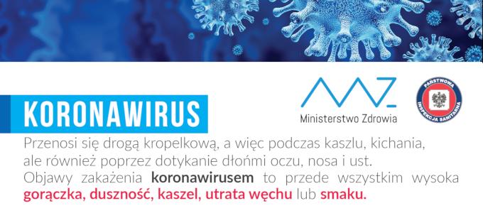 Ilustracja do informacji: Koronawirus - niezbędne informacje!