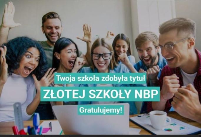 Ilustracja do informacji: Zespół Szkół Technicznych i Licealnych otrzymał tytuł Złotej Szkoły NBP