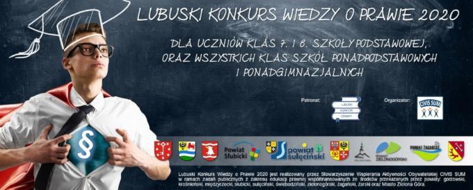Ilustracja do informacji: Żagańscy Zwycięzcy Lubuskiego Konkursu Wiedzy o Prawie 2020